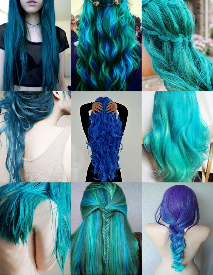 Teal And Blue Long Ombre Hairstyles Pictures Photos And Images For
