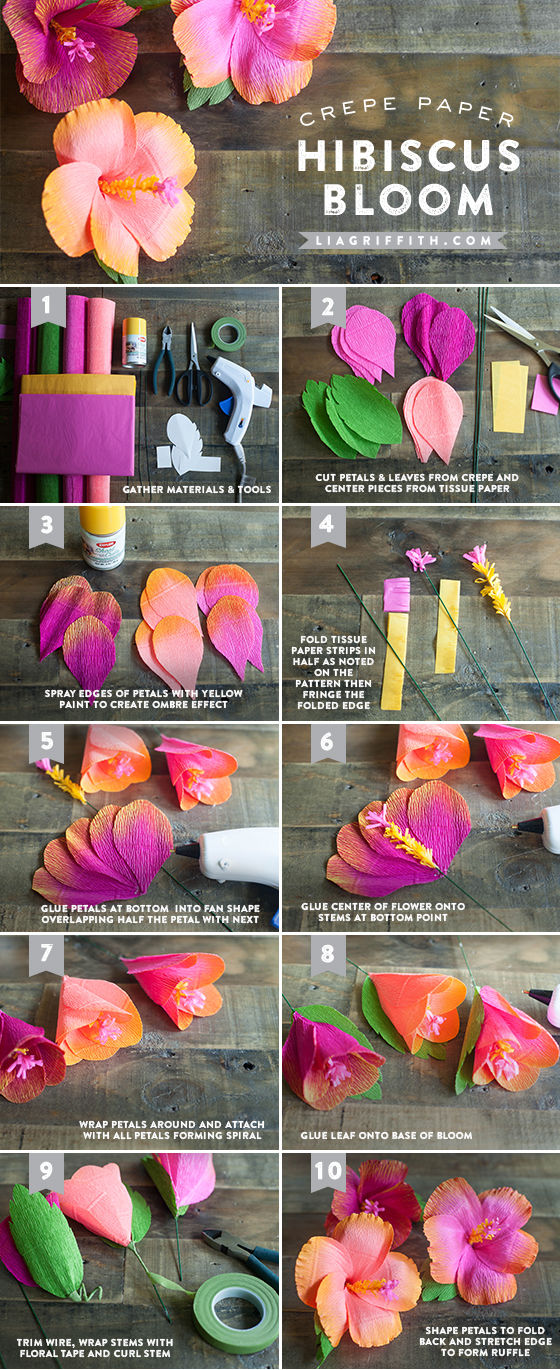 Diy crepe hibiscus paper flowers pictures photos and images for diy crepe hibiscus paper flowers mightylinksfo