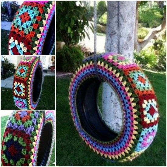 Diy tire swing pictures photos and images for facebook for Tyre swing ideas