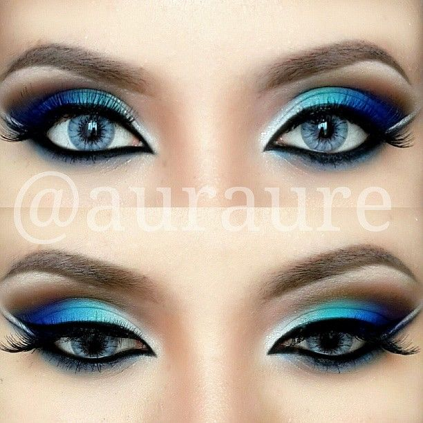 Blue Green Silver Eye Makeup Pictures Photos And Images For