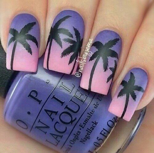 Tropical Palm Tree Nails Pictures, Photos, and Images for Facebook ...