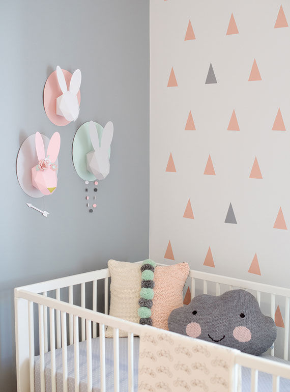 Blush Pink And Grey Nursery