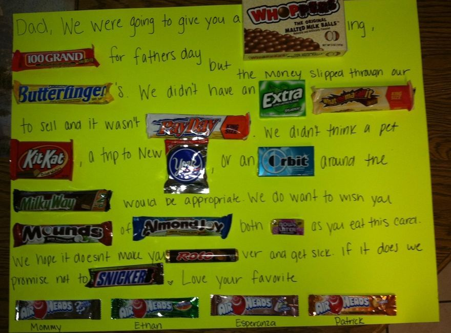 1c3b366379313 Candy Card For Dad Pictures