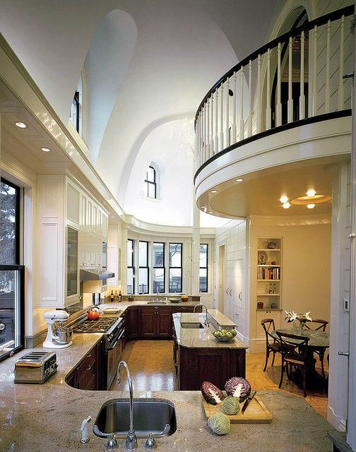 Walkway overtop kitchen pictures photos and images for - Les plus belles cuisines equipees ...