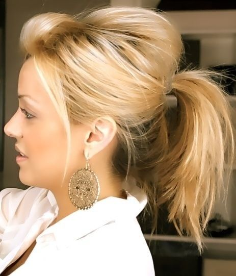 Cute Messy Ponytail Hairstyle Pictures, Photos, and Images for Facebook, Tumblr, Pinterest, and ...