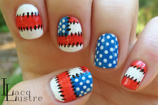 Patriotic Patchwork Nail Art Pictures Photos And Images For