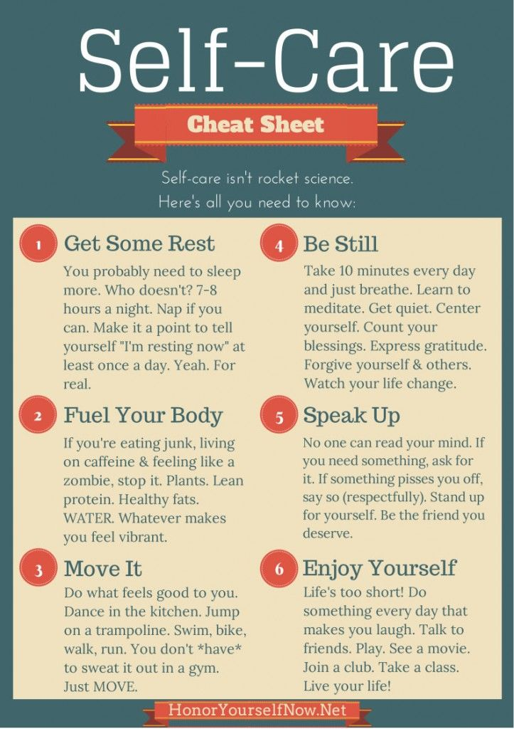 Self Care Cheat Sheet Pictures, Photos, and Images for ...