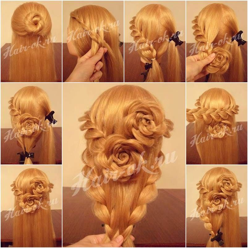 how to do make hair style diy pretty braids hairstyle pictures photos and 6786 | 179837 Diy Pretty Rose Braids Hairstyle