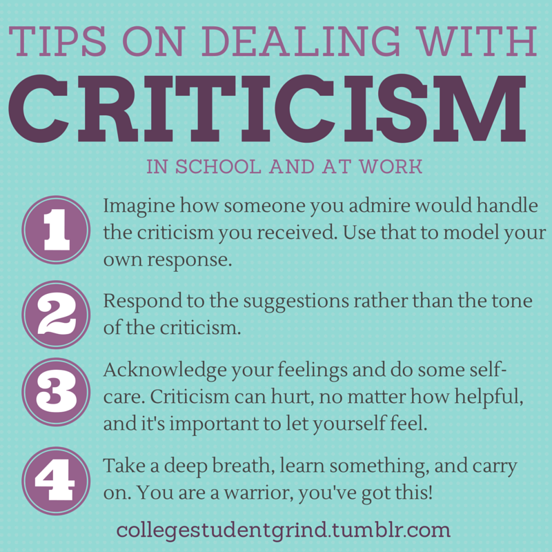 Tips On Dealing With Criticism Pictures, Photos, and