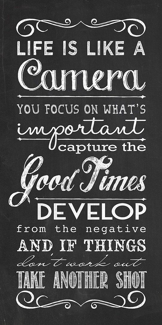 Inspirational Quotes Of The Day: Life Is Like A Camera, Focus On What's Important Pictures