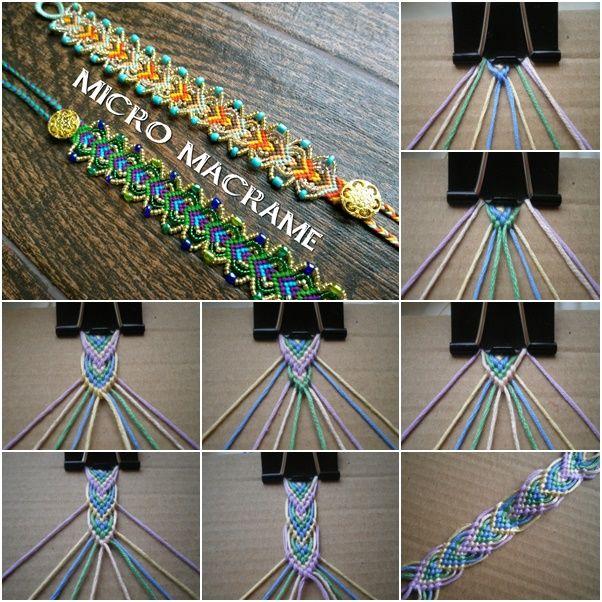 Diy Macrame Friendship Bracelet Pictures Photos And