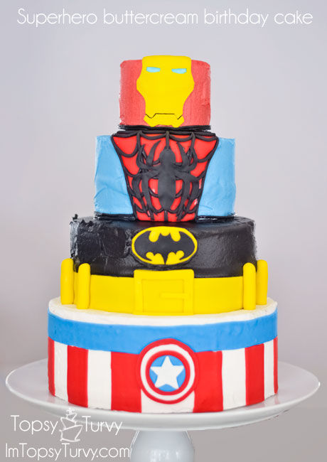 Superhero Birthday Cake Pictures Photos and Images for Facebook