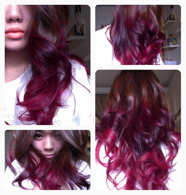 Brown And Red Ombre Hair