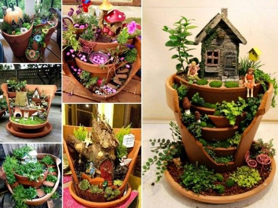 Broken Pot Fairy Garden Ideas Pictures Photos And Images