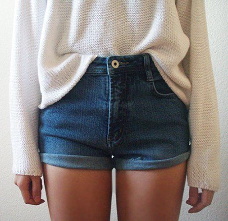 Cuffed Denim Shorts Pictures, Photos, and Images for Facebook ...