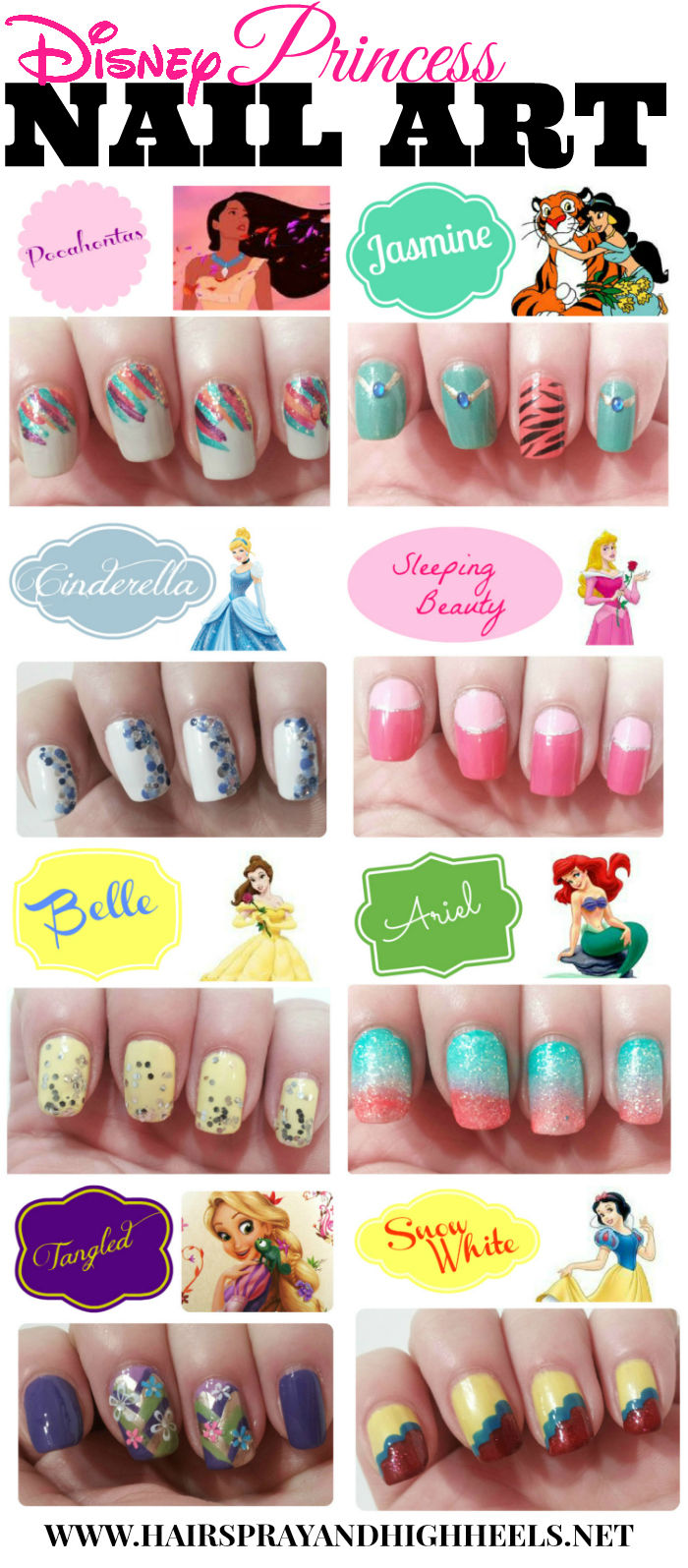 Disney Princess Nail Art Pictures, Photos, and Images for Facebook, Tumblr,  Pinterest, and Twitter - Disney Princess Nail Art Pictures, Photos, And Images For Facebook