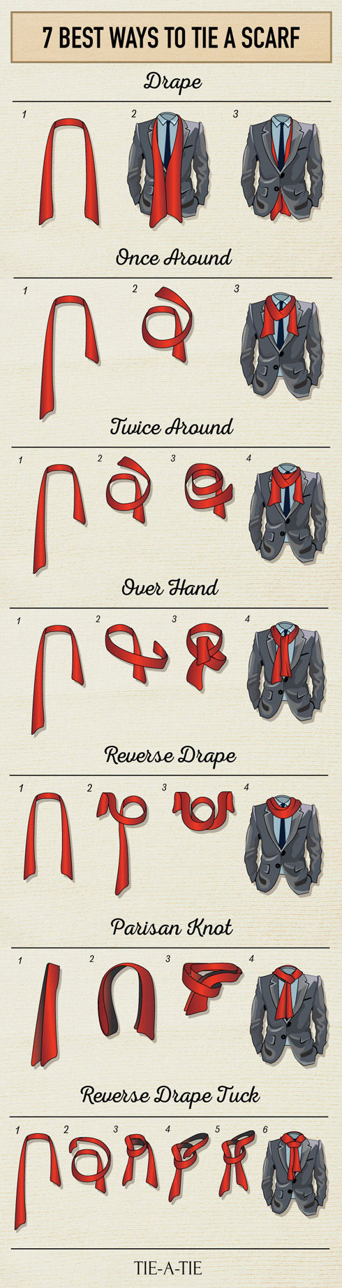 7 best ways to tie a scarf pictures photos and images