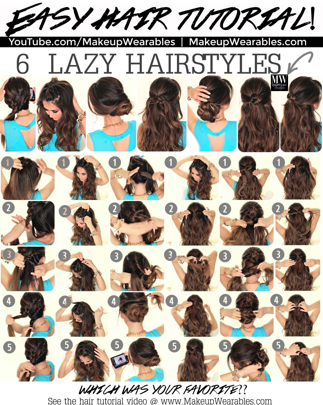 6 Quick And Easy Hairstyles Pictures, Photos, and Images for ...