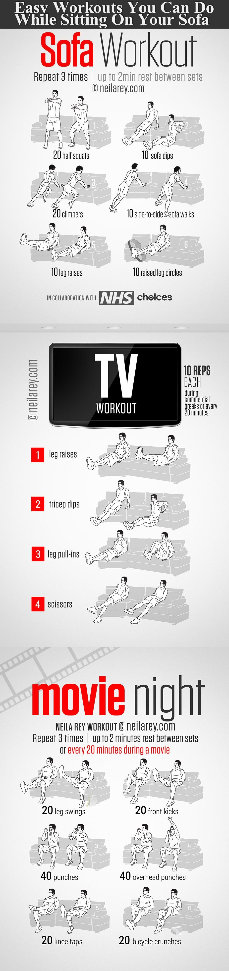 Easy Workouts You Can Do While Sitting On Your Sofa