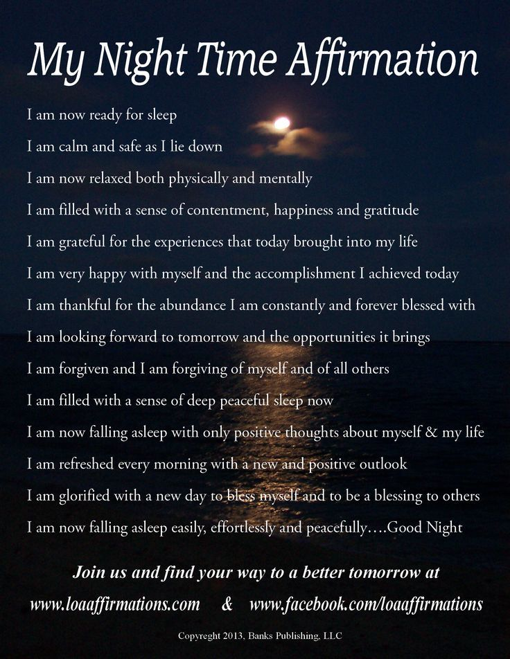 Night Time Affirmtions Pictures Photos And Images For Facebook