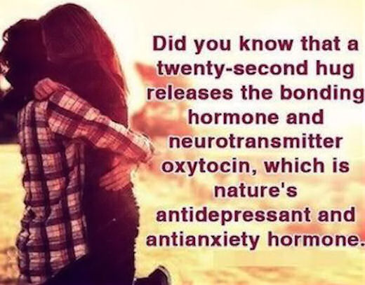 A Hug Releases Oxytocin Which Is Nature's Antidepressant ...