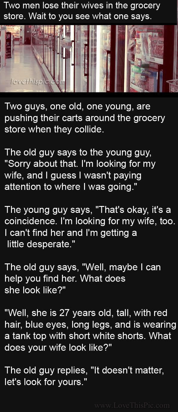 Two Men Lose Their Wives In A Grocery Store What Happens Next Is Hilarious