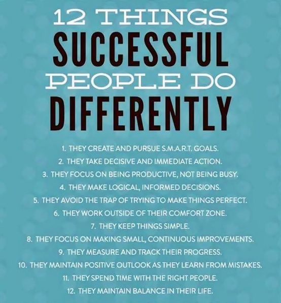 12 Things Successful People Do Differenlty Pictures ...
