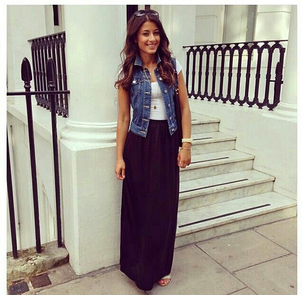 Maxi Dress With Jean Jacket Pictures, Photos, and Images for ...