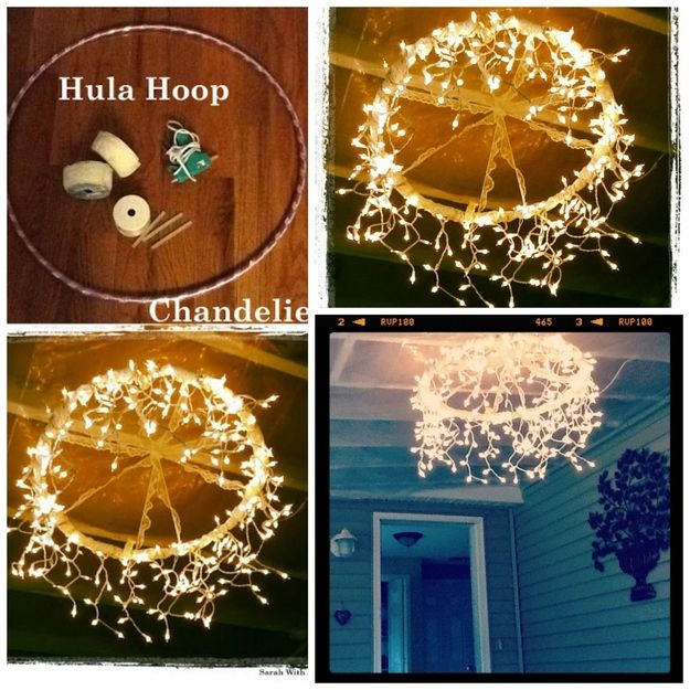 How To Make A Chandelier From Hula Hoop