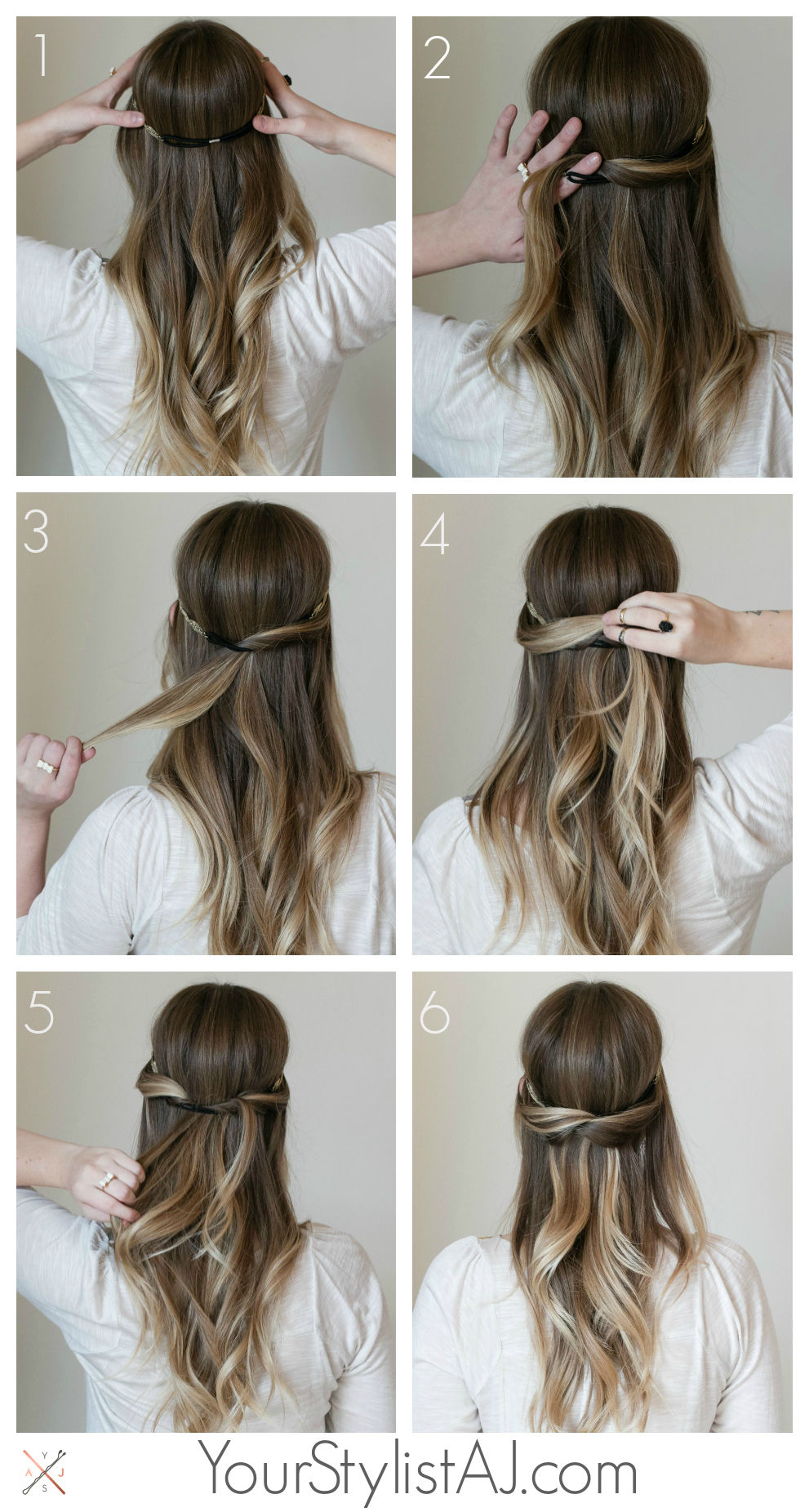 Half Up Headband Hair Tutorial Pictures, Photos, And