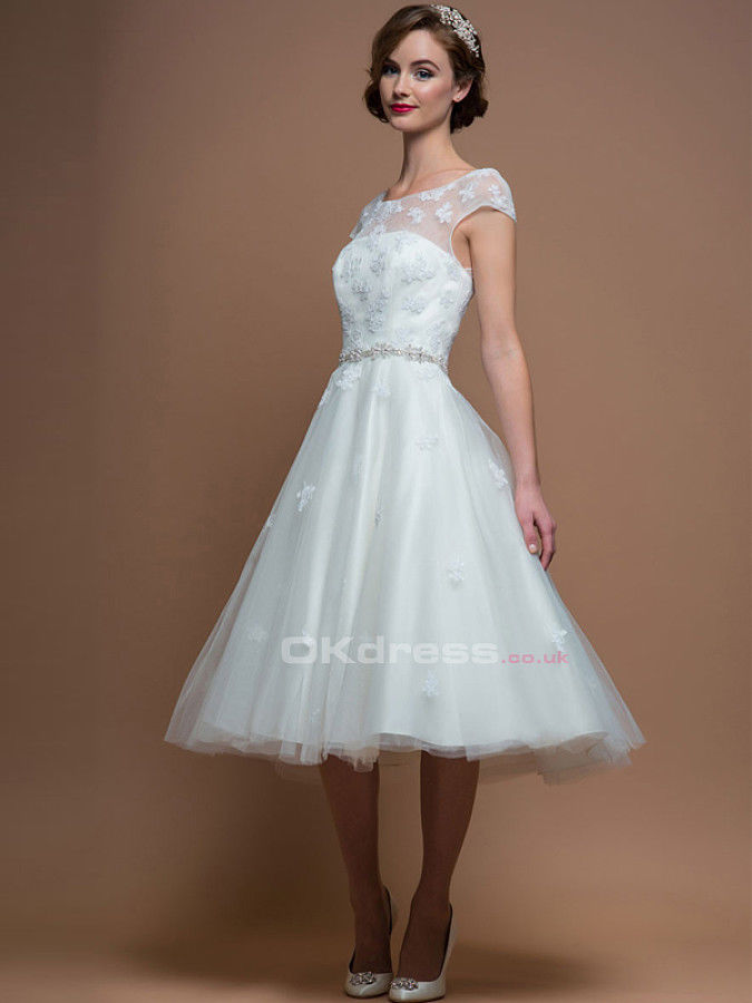 Cap Sleeves Short Wedding Dresses Pictures Photos And Images For