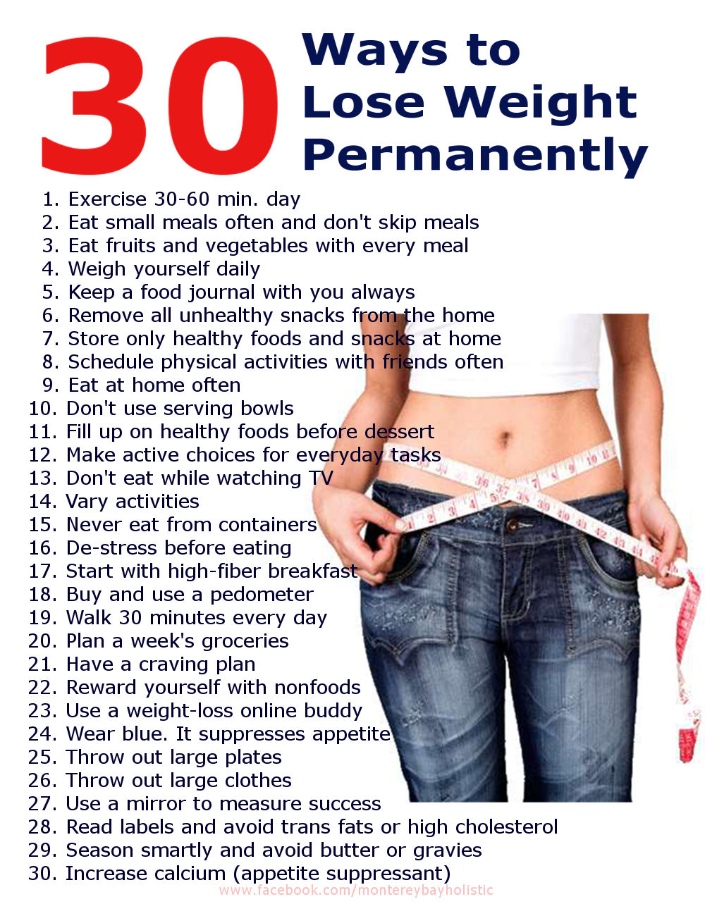 30 Ways To Lose Weight Permananetly