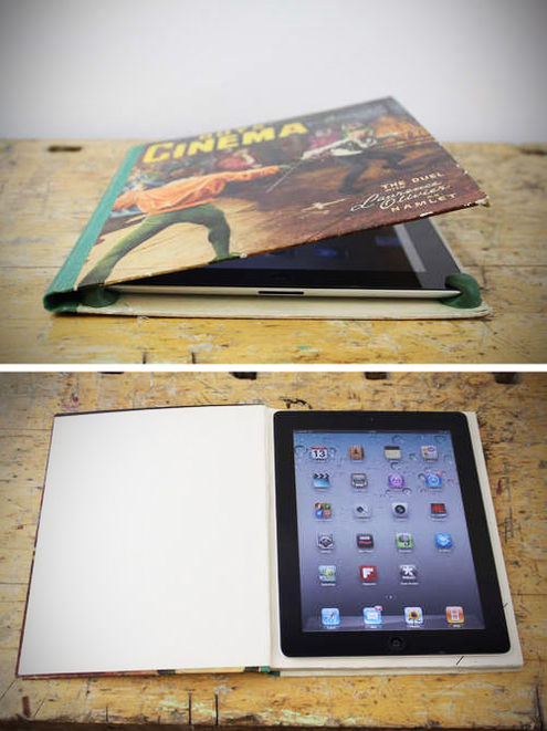 Ipad Book Cover Diy : Ipad case from recycled book pictures photos and images