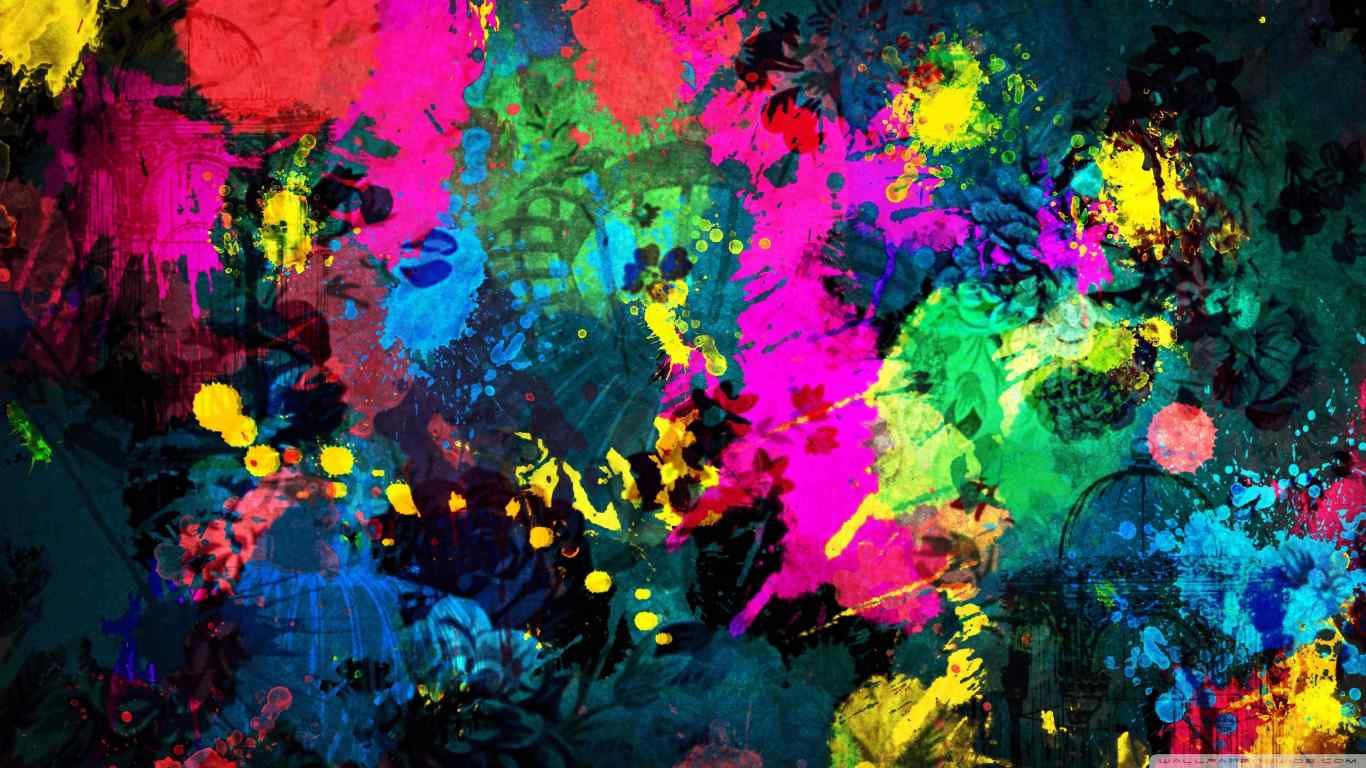 Colorful paint splatter art picture pictures photos and images for