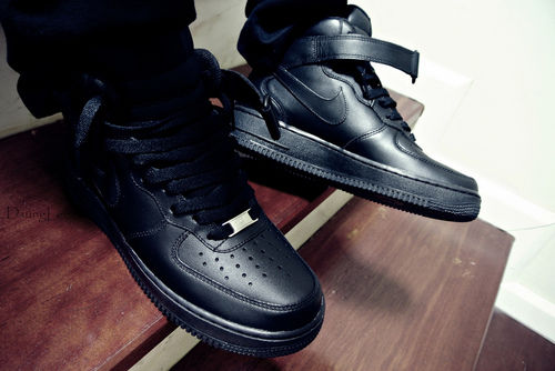 black air force ones