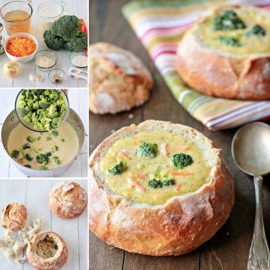 Potato Soup Bread Bowls