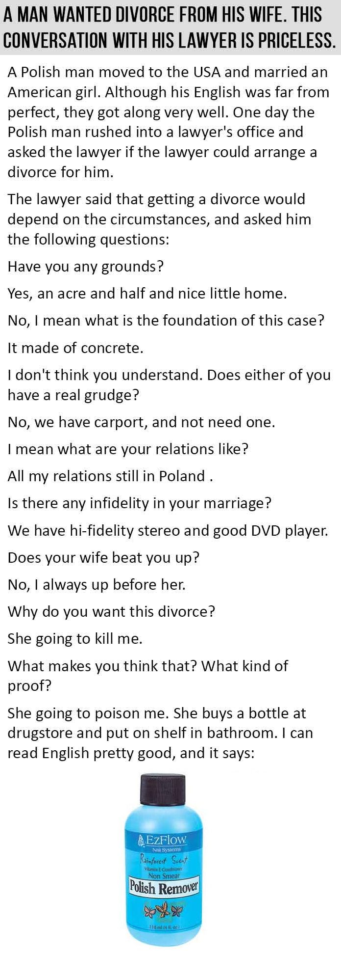 Funny Quotes Quotes And Jokes On Pinterest: Man Wants To Divorce His Wife The Conversation With His