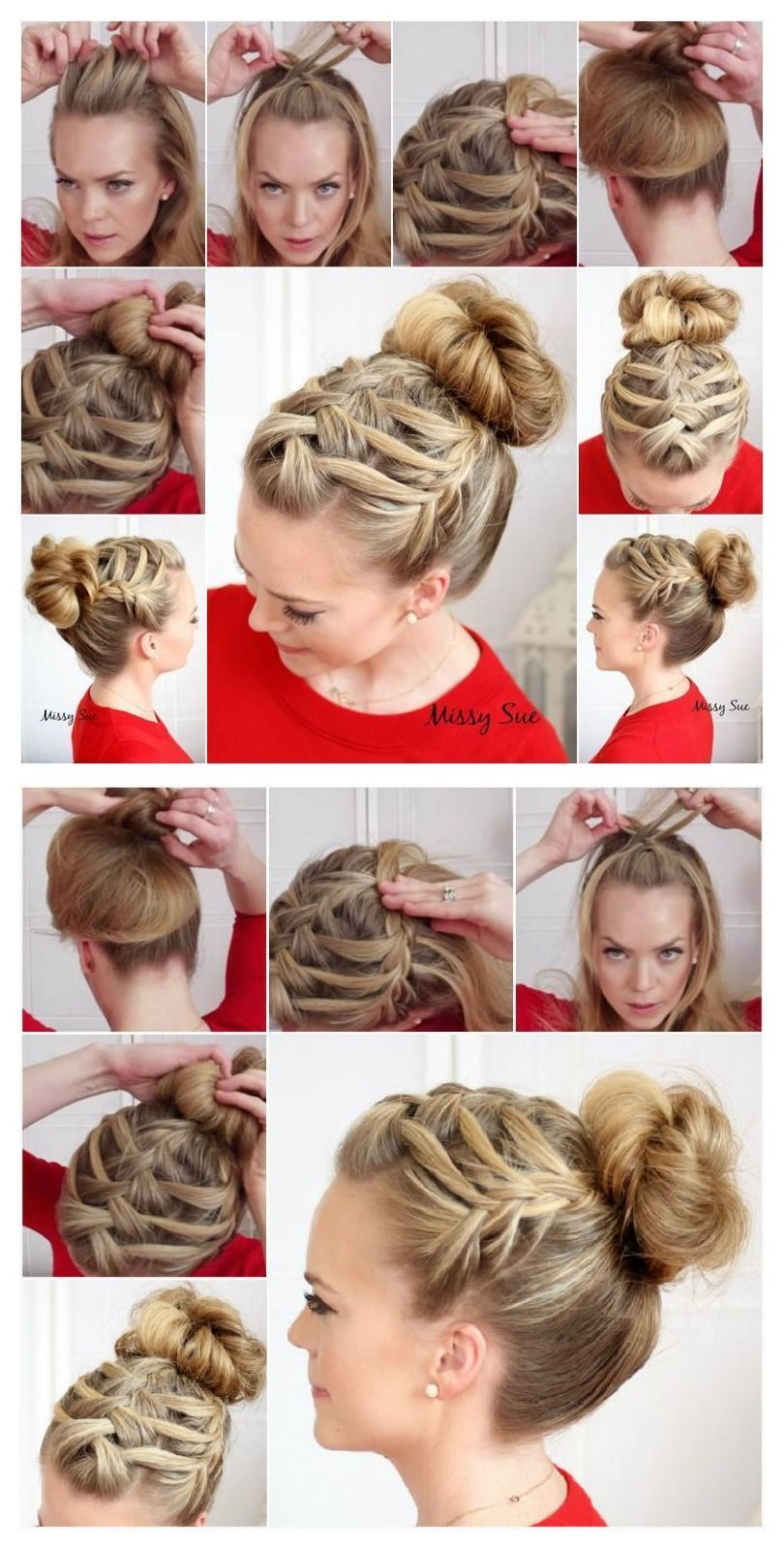 Triple French Braid Double Waterfall Hairstyle Tutorial Pictures How To French  Braid For Beginners : Juriewiczfo