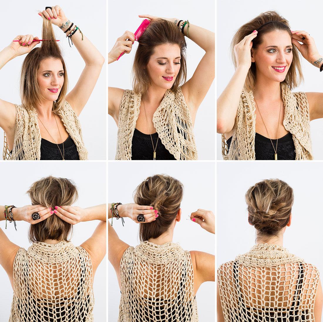 Причёски на короткие волосы на каждый день своими руками - DIWIS
