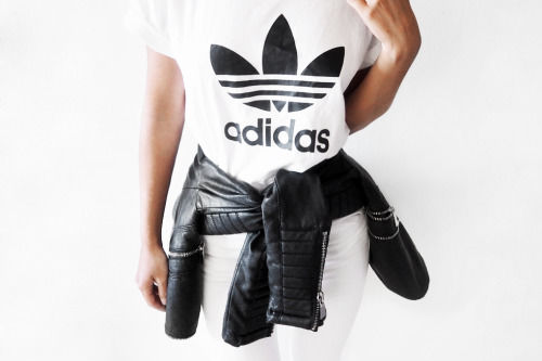 Adidas Shirt And Leather Jacket Pictures Photos Images For