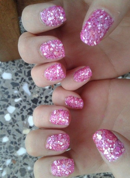 Pink Crushed Stone : Pink crushed stone nails pictures photos and images for