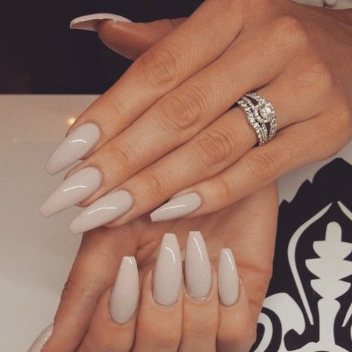 Beige Glossy Nails Pictures Photos And Images For