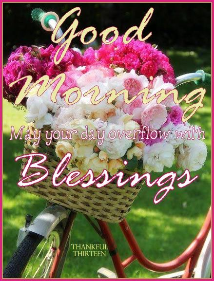 good morning may your day overflow with blessings pictures