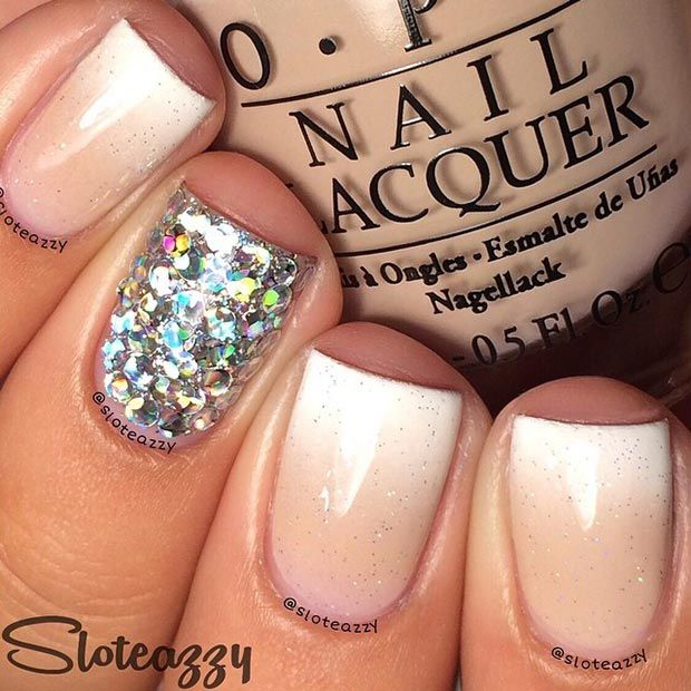 Sparkly Ombre Nude Nails Pictures, Photos, and Images for Facebook ...