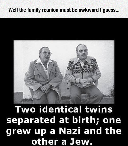 Awkward Family Reunion: Twins Separated At Birth One Grew ...