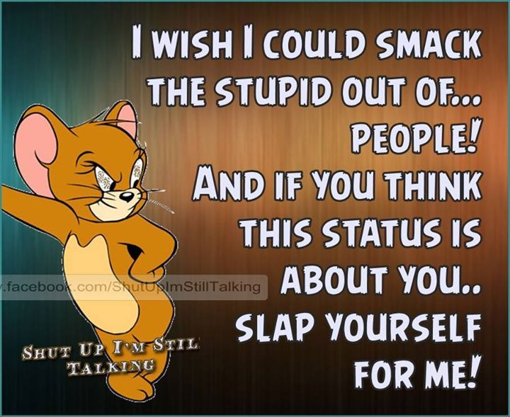 Quotes For Stupid People: I Wish I Could Smack The Stupid Out Of People Pictures