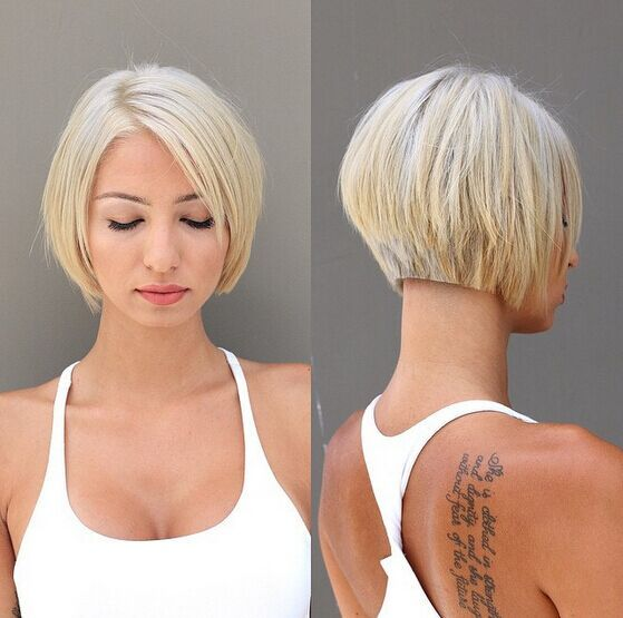 Super Cute Blunt Short Bob Hairstyle Pictures Photos And Images For Hairstyles For Women Draintrainus