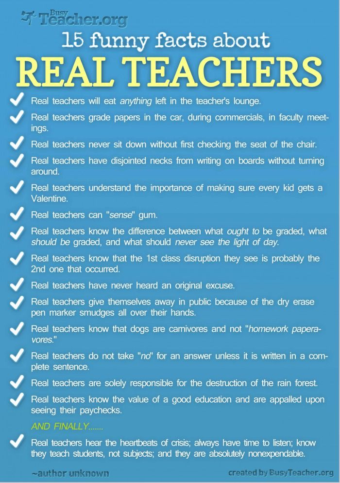 15 Funny Facts About Real Teachers Pictures Photos And Images For