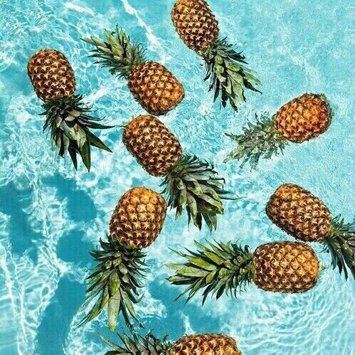pineapples in water pictures photos and images for