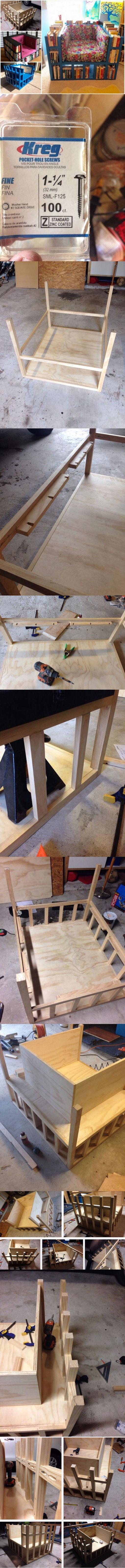 DIY Bookshelf Chair Tutorial